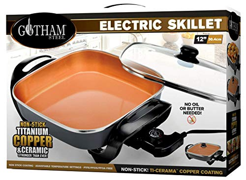 Gotham Steel 2172 Electric Skillet With Non Stick Ti